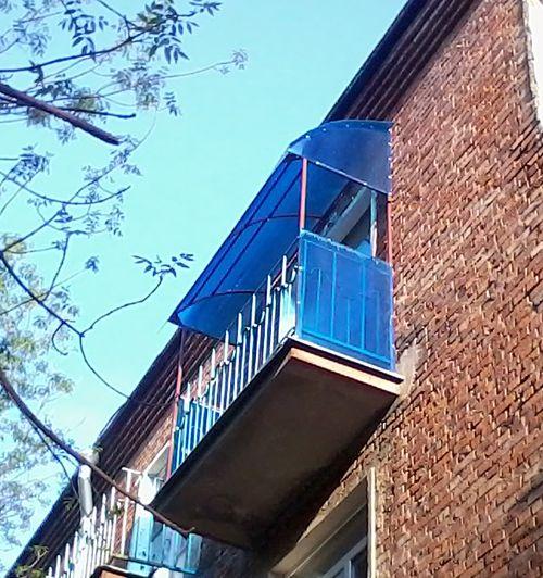 из поликарбоната балкон фото