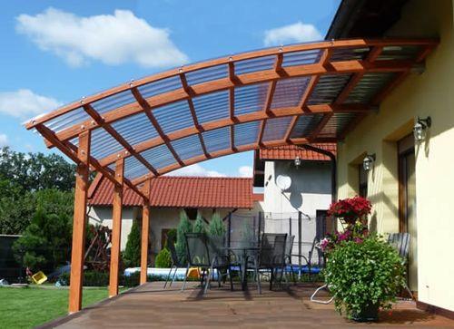 Крыша террасы из поликарбоната