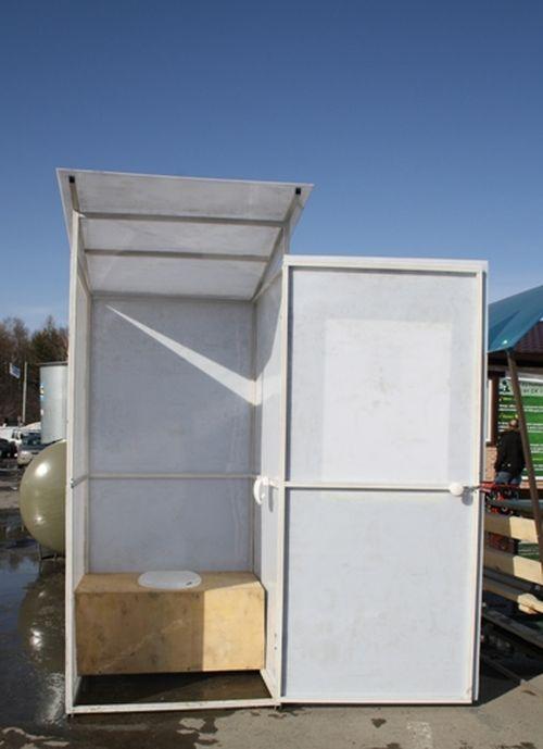 Туалет на даче своими руками из профнастила