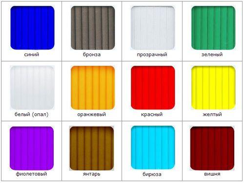 Выбираем поликарбонат цвета опал: о применении