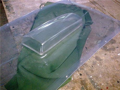 Изготовление стекла для фары из поликарбоната своими руками