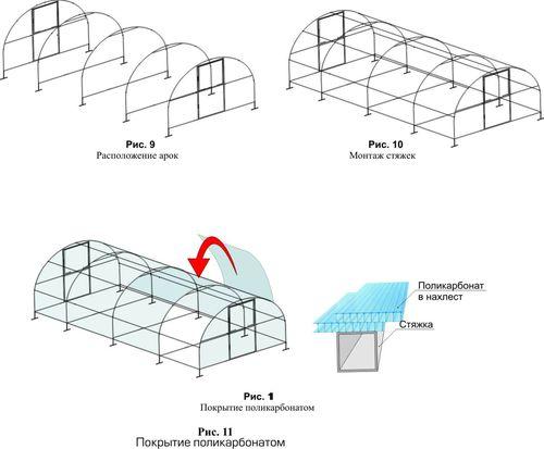 Варианты моделей теплиц со сдвижной крышей