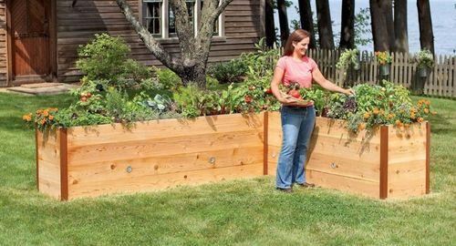 Как сделать узкие грядки в саду