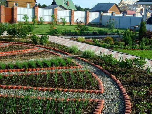 Красивое оформление огорода