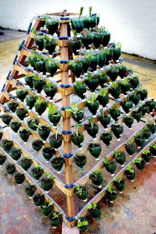 Как сделать вертикальные грядки на садовом участке